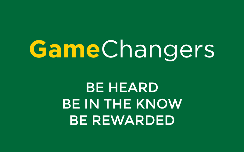 Game Changers logo and slogan